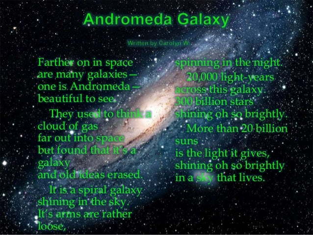 astronomy poems that rhyme - photo #18