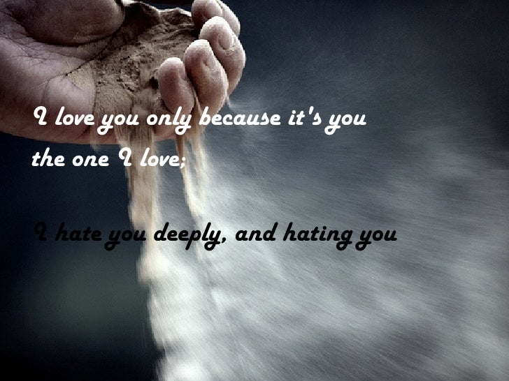 because i love only you