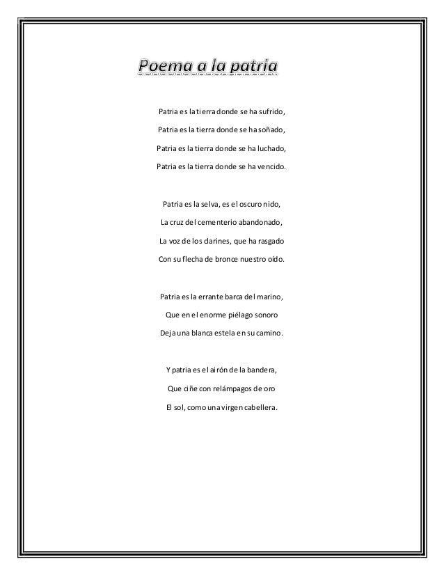Poema a-la-patria
