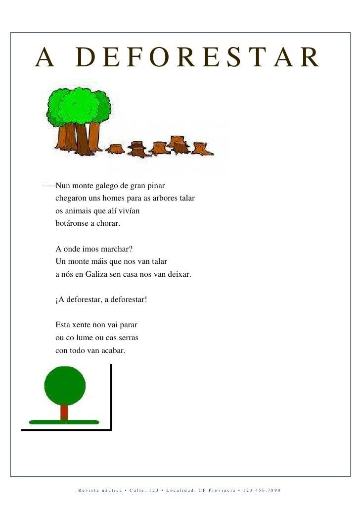 A DEFORESTARNun monte galego de gran pinarchegaron uns homes para as arbores talaros animais que alí vivíanbotáronse a cho...