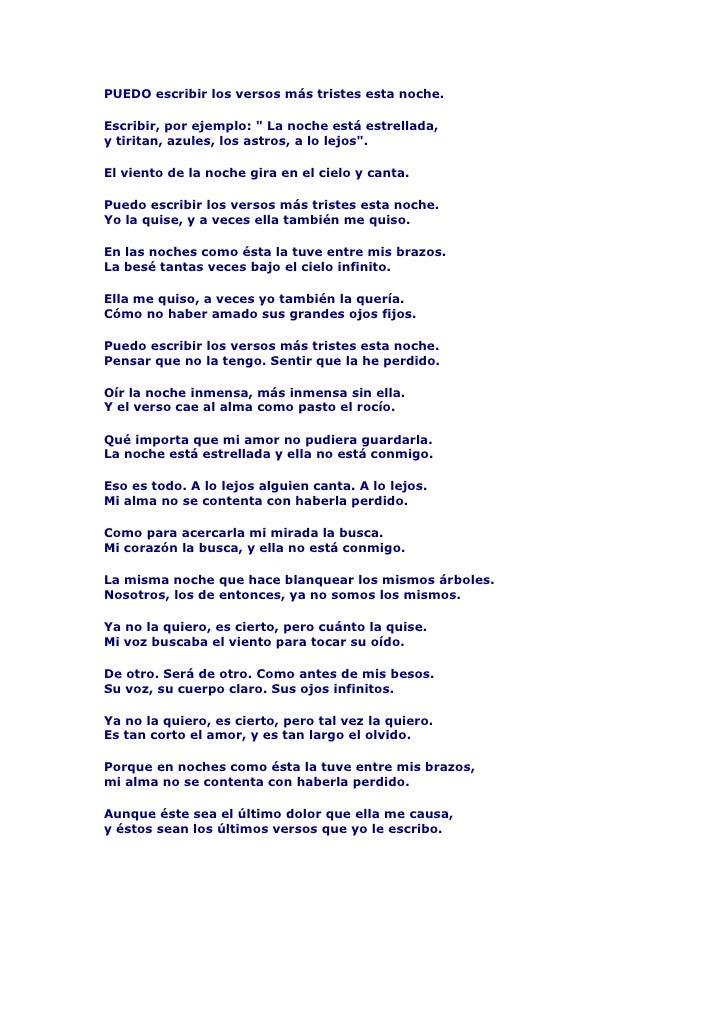 Poema 20 De Pablo Neruda