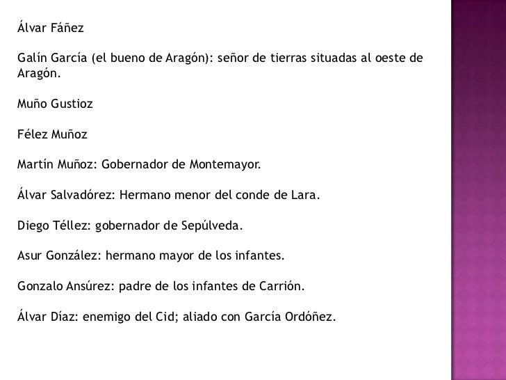 El Cid recibe a suesposa con alegría y le muestralastierrasvalencianasconquistadas.</li></li></ul><li><ul><li> Los morosi...
