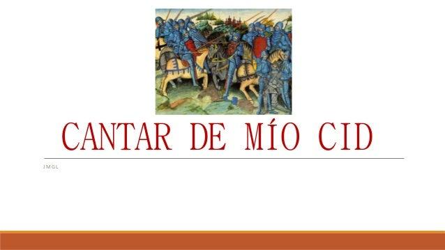 CANTAR DE MÍO CID  JMG L