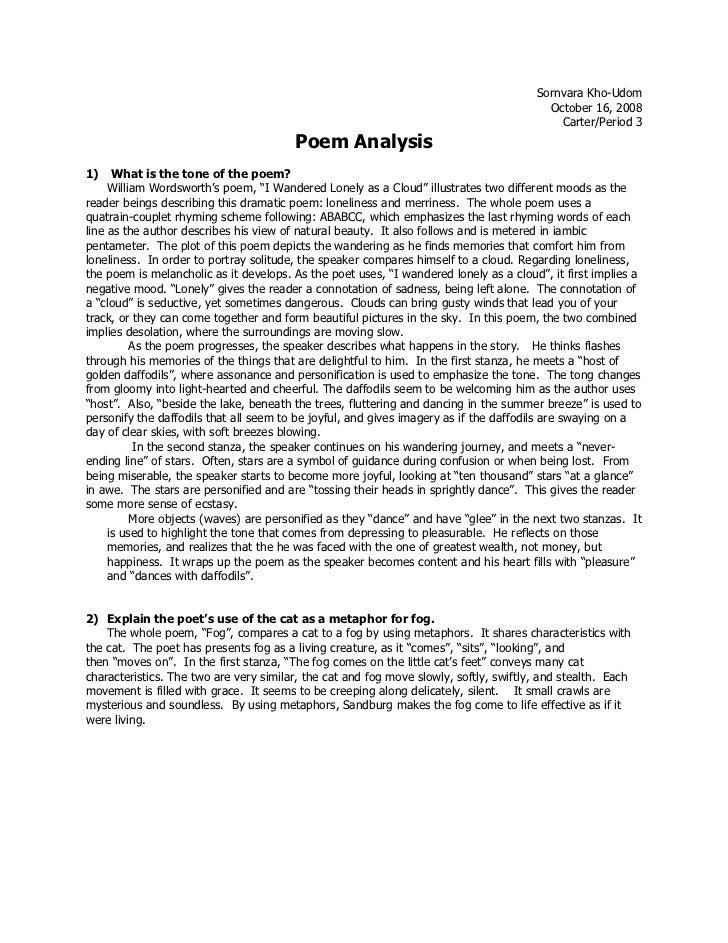daffodils by william wordsworth summary