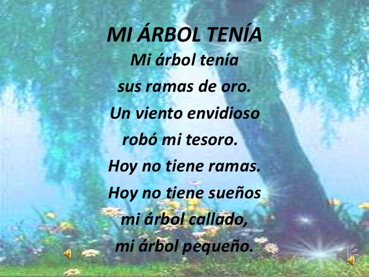Poemas for Dia del arbol 01 de septiembre