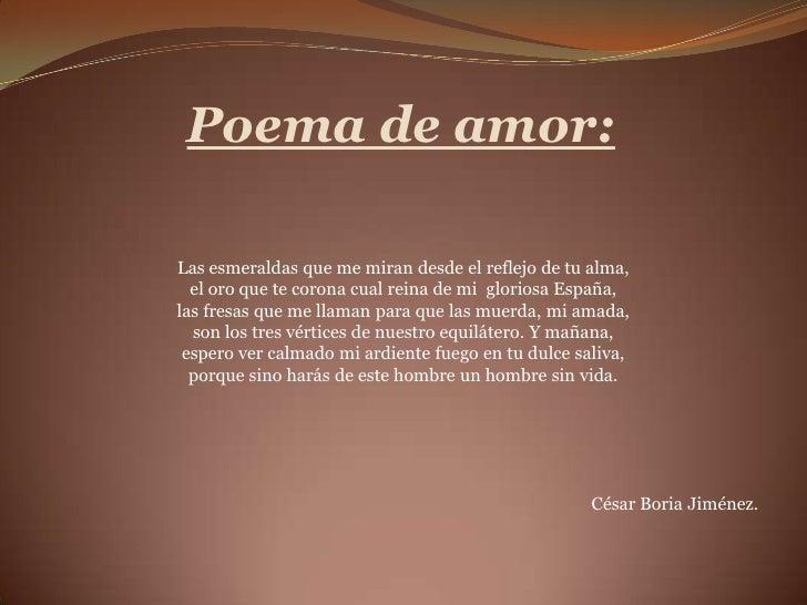 Poema Para Pessoa Amada: Poemas A Los Quince AñOs