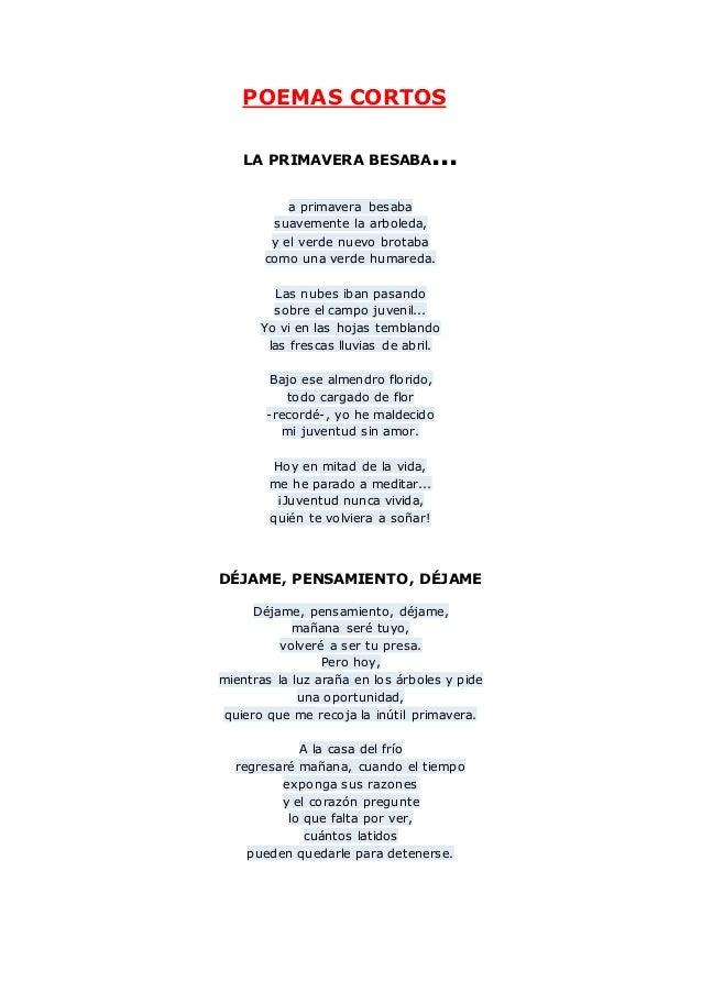 Poemas cortos for Buscador de poemas