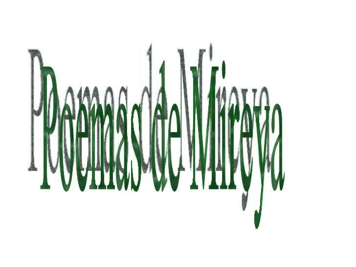 Poemas de Mireya