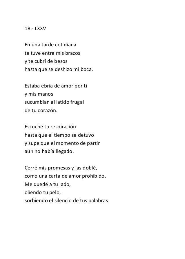 poemas para un amor prohibido