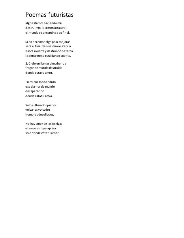 Poemas futuristas for Buscador de poemas