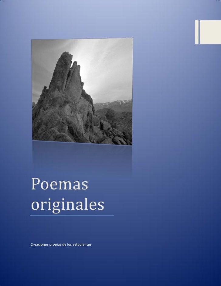 PoemasoriginalesCreaciones propias de los estudiantes