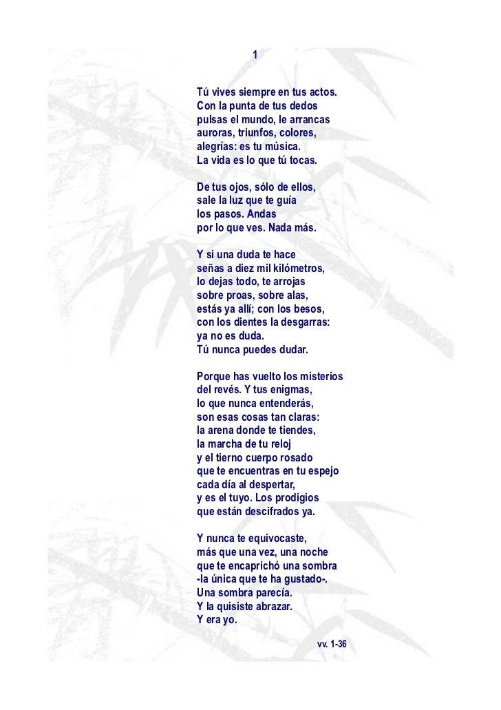 Poemas para comentar en clase