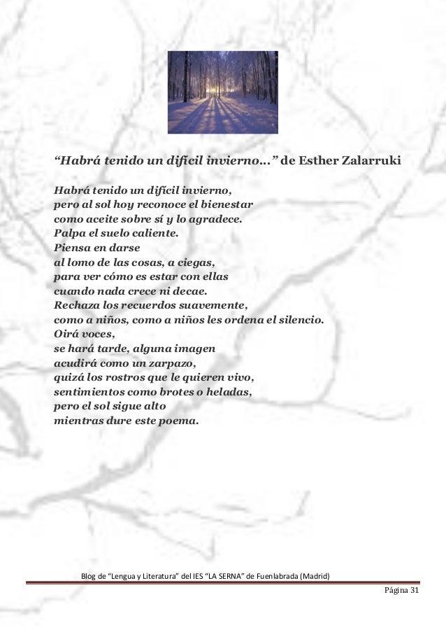 Poemas para el invierno ies la serna fuenlabrada for Poemas de invierno