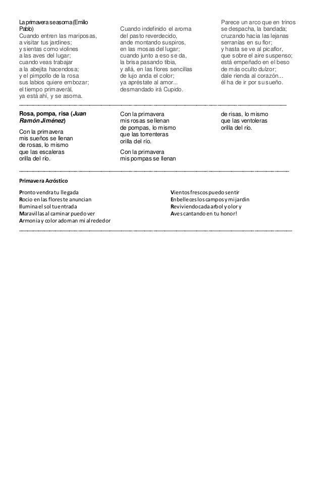 Dorable Hoja Poema Acróstico Colección de Imágenes - hojas de ...