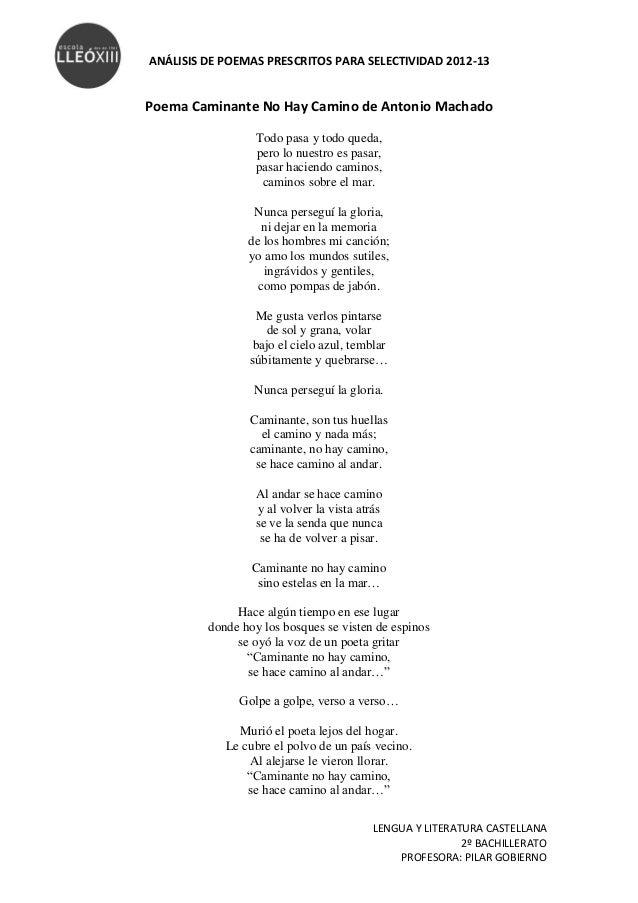 Poemas Y Proverbios Y Cantares A Machado
