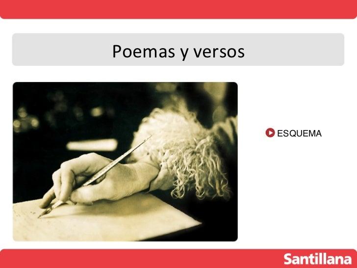 Poemas y versos                  ESQUEMA