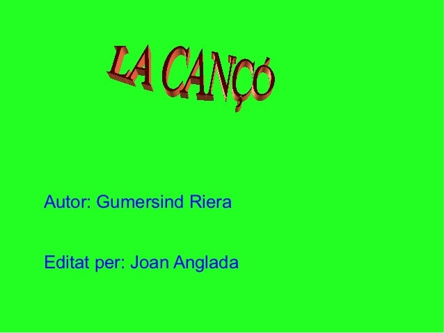 Autor: Gumersind RieraEditat per: Joan Anglada