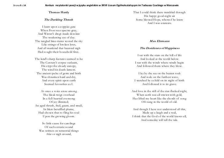 Poem Contest