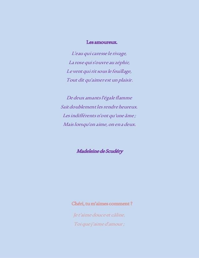 Petits Poèmes Damour