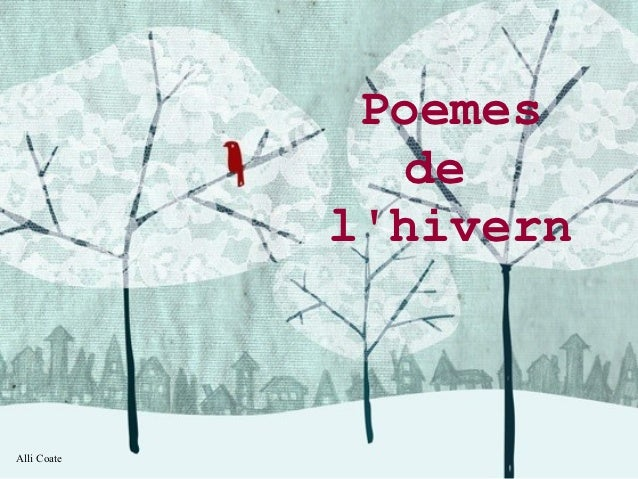 Poemes                de             lhivernAlli Coate