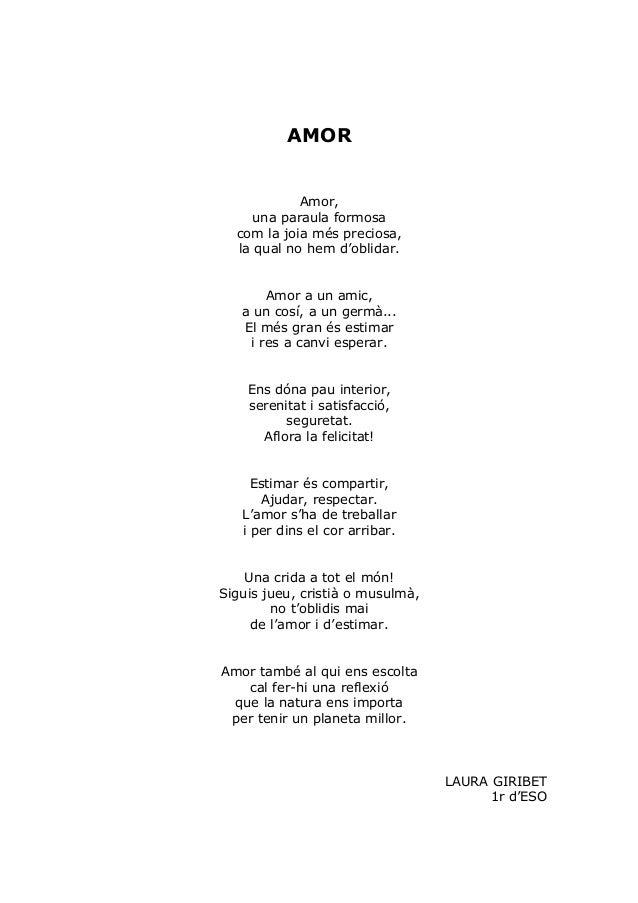 Poemes jocs florals escola - Amor en catalan ...