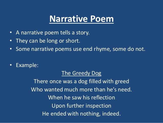 narrative poem examples - photo #1