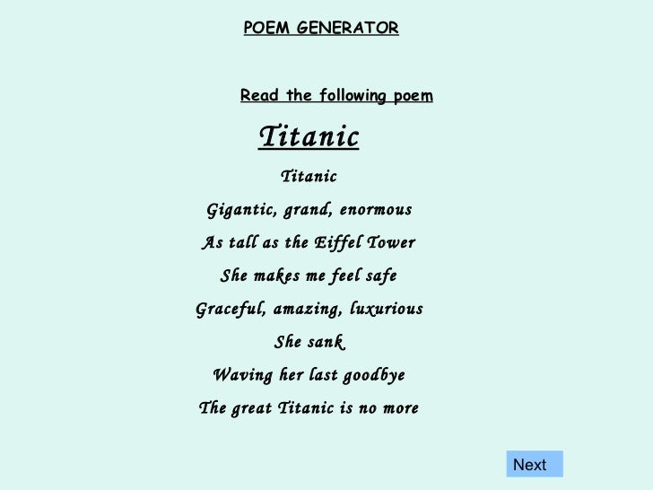how to write a personification poem