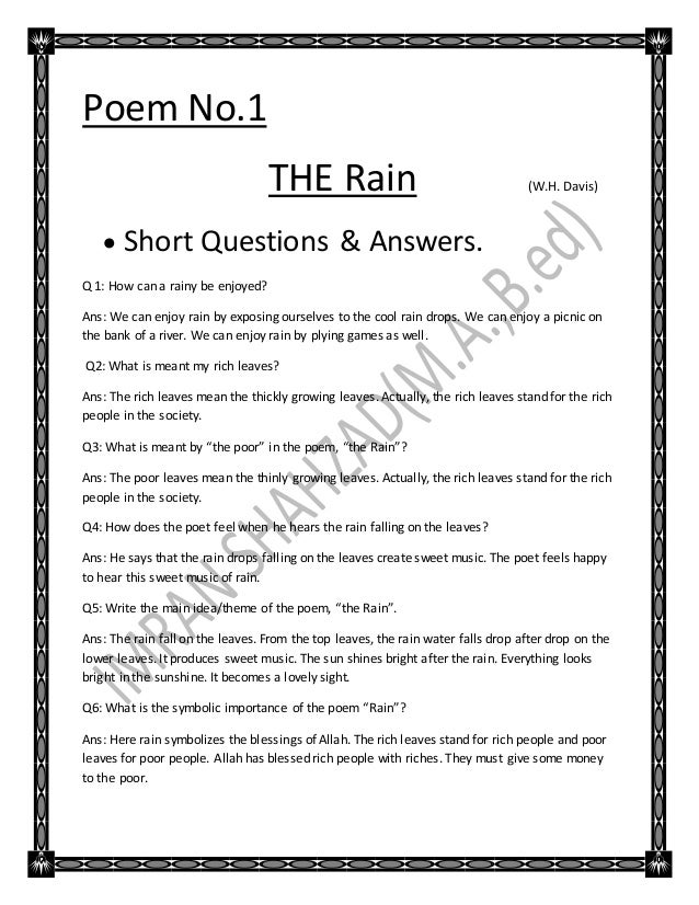 Poem no all