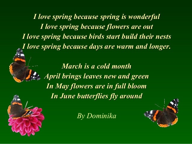 Poems about spring by anetka 3 i love spring mightylinksfo