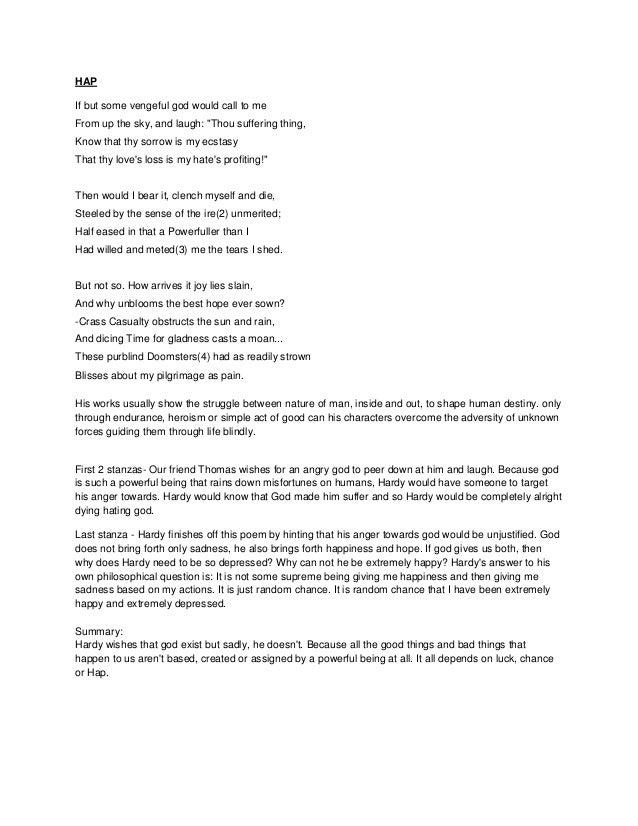 hap thomas hardy summary