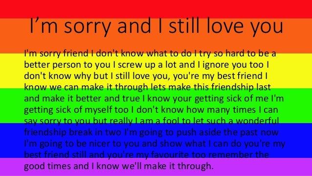 Im Sorry Poems For Girlfriends 5