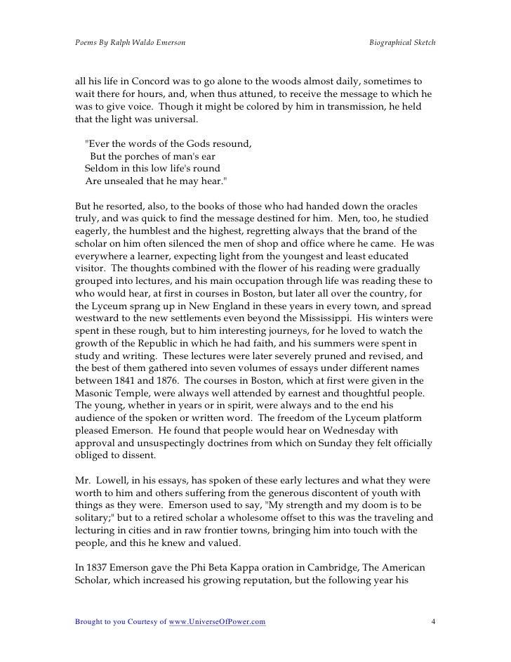 Poems essays ralph waldo emerson