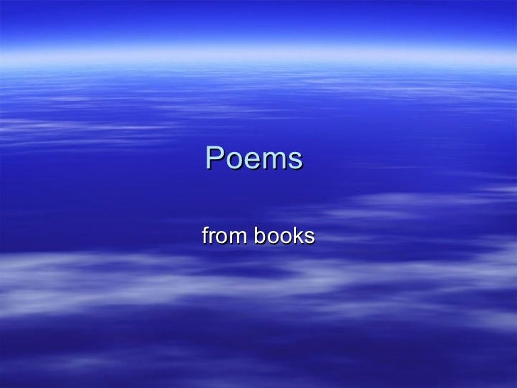Poems  from books