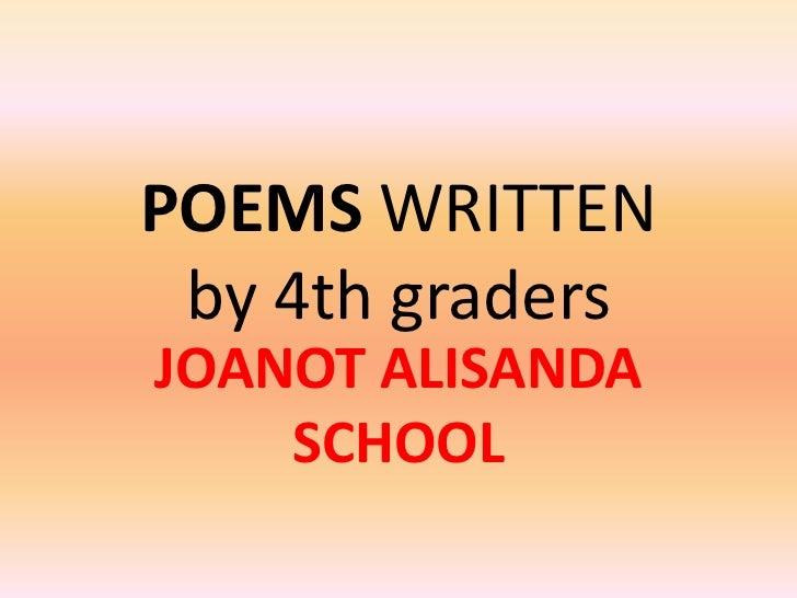 poems 4th graders. Black Bedroom Furniture Sets. Home Design Ideas