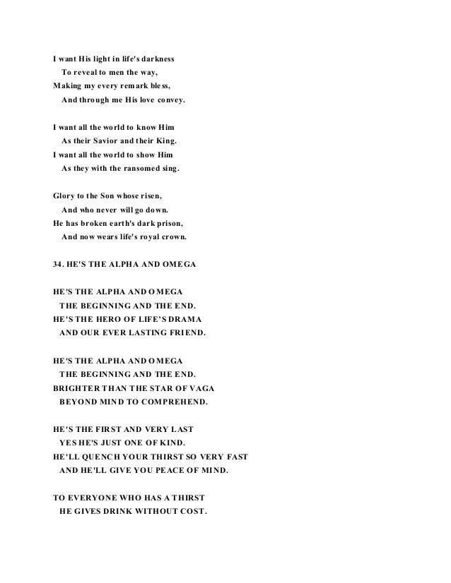 Lyric risen lyrics : Poems and lyrics
