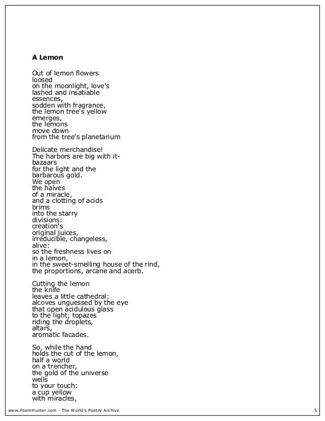 analysis of the poem poetry by pablo neruda Tips for literary analysis essay about death alone by pablo neruda.