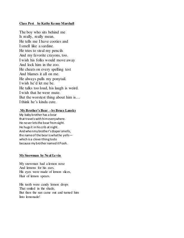 Poems for recitation