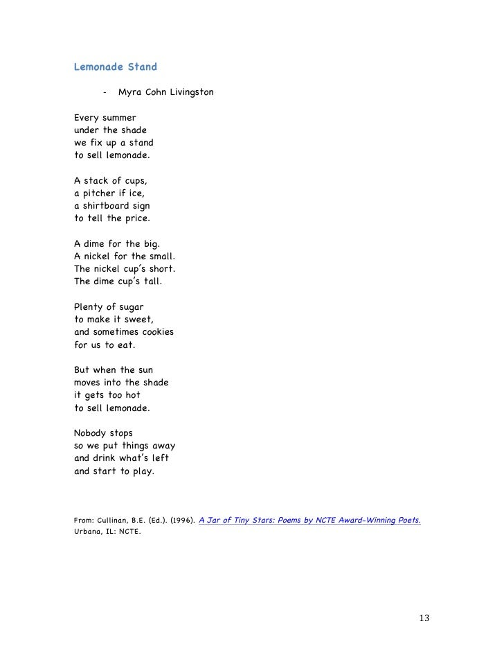 Poems For Shared Choral Paired And Echo Reading
