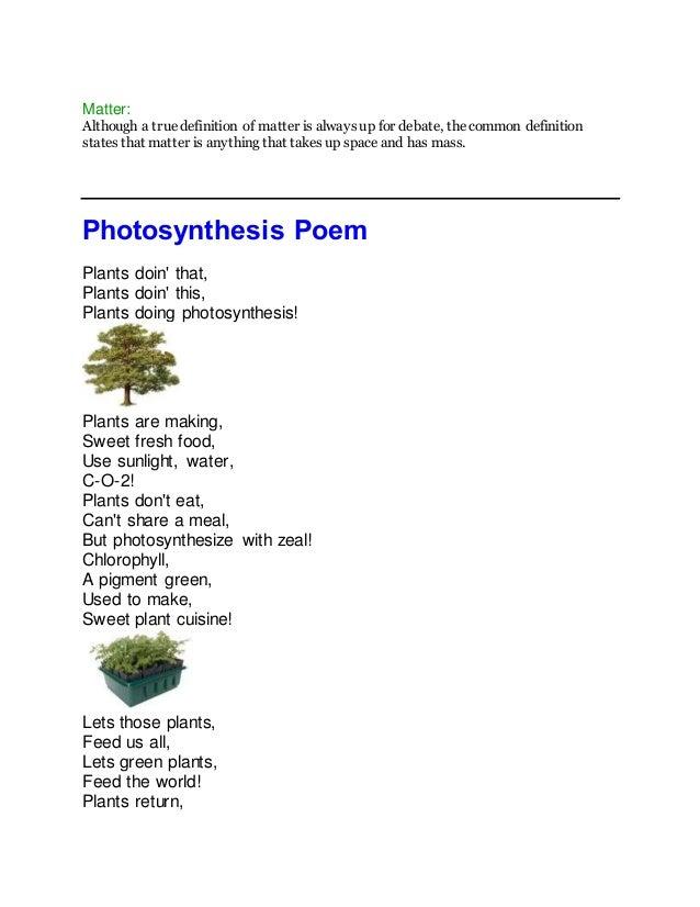 Poems in science