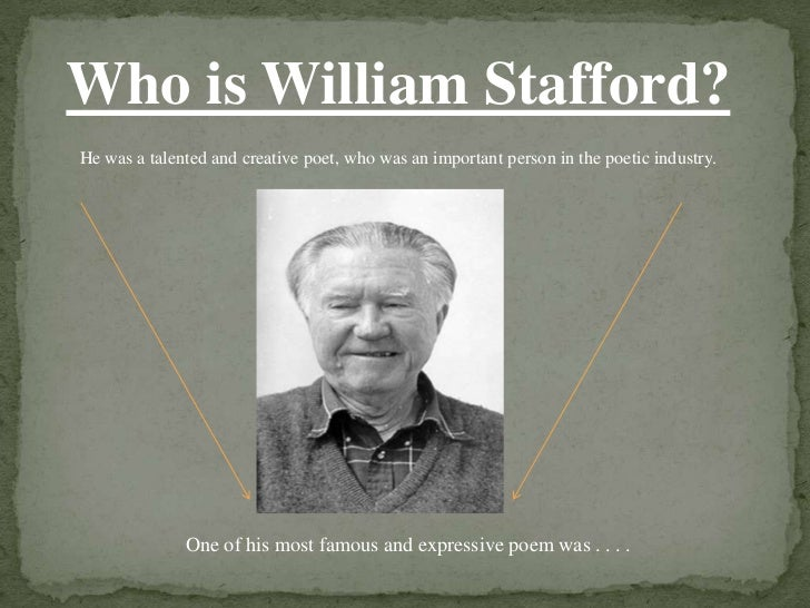 "william staffords poem traveling through the dark essay American poet william stafford in his poem ""travelling through the dark"" presents the conflicts between physical action and emotion and responsibility to take appropriate course of action even in critical situation."
