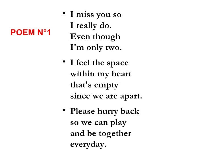 Poems about missing someone