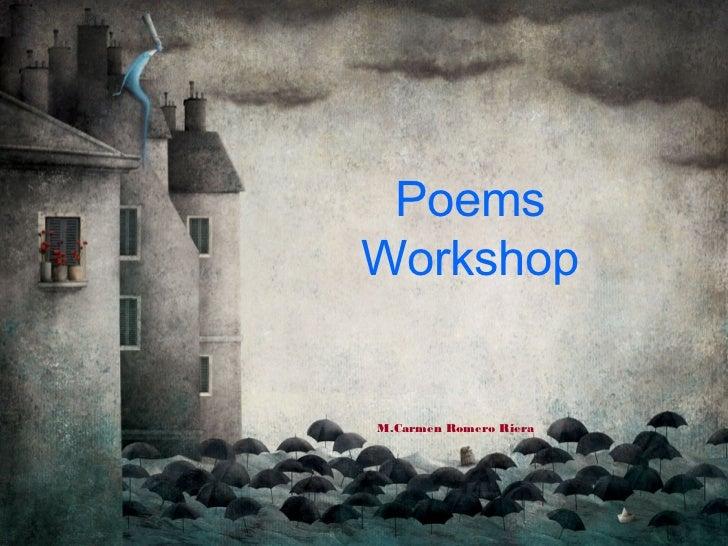 PoemsWorkshopM.Carmen Romero Riera
