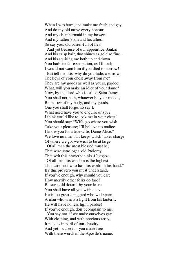 Poem Wife Of Bath