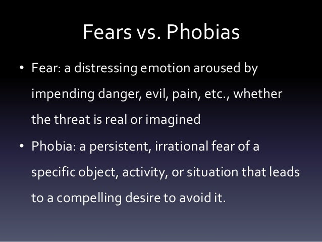different types of phobias Top 10 fears top 10 fears - what i 1 say this list of fears below, listed in order, is based on the search engine keyword research 1 used to help create selfhelpcollectivecom ie it's based on data taken from google (and other popular search engines) and indicates the types of fear people are most looking for information on.