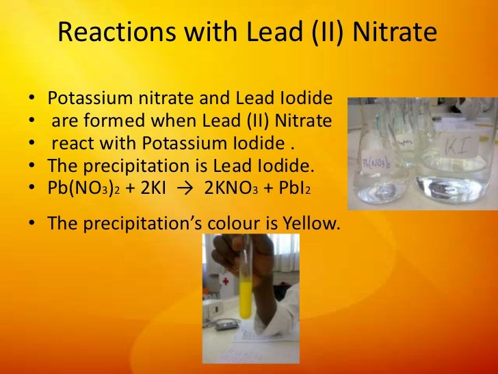 preparation of a salt lead iodide Solubility product constant of lead (ii) iodide • laboratory separate: modular laboratory program in and some careful thinking) are below prepare the solutions to these questions and submit them at the beginning of the laboratory equl-308: solubility product constant of lead.