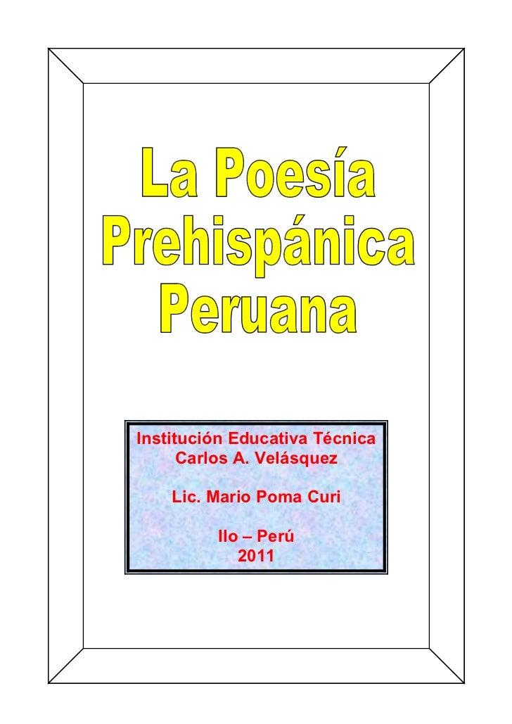 Institución Educativa Técnica      Carlos A. Velásquez    Lic. Mario Poma Curi         Ilo – Perú            2011