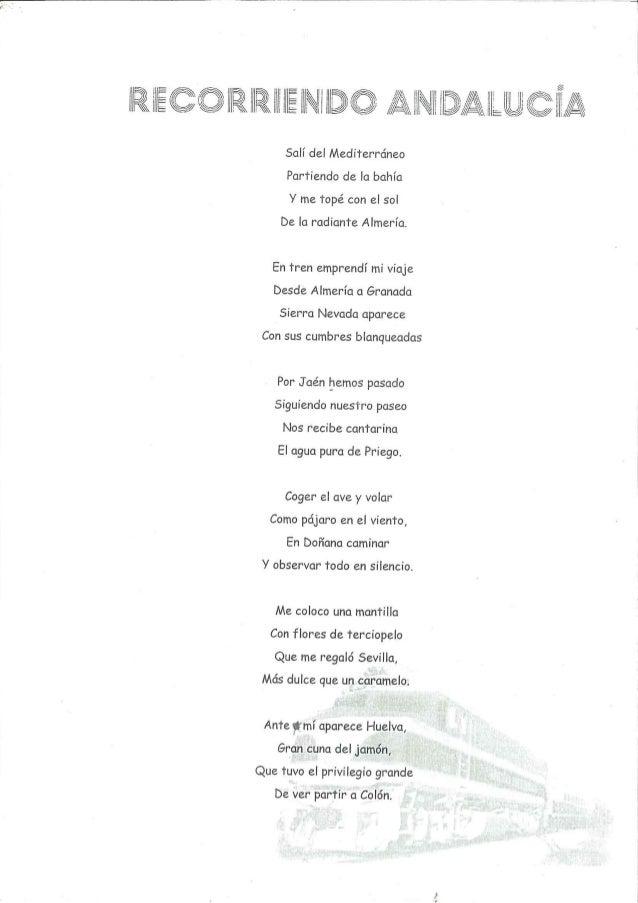 Poesía; recorriendo andalucía