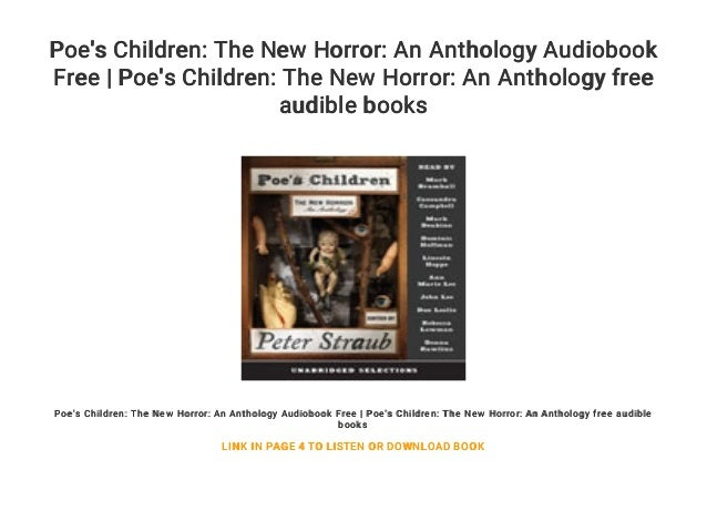 Poe's Children: The New Horror: An Anthology Audiobook Free | Poe's C…