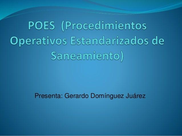 Presenta: Gerardo Domínguez Juárez