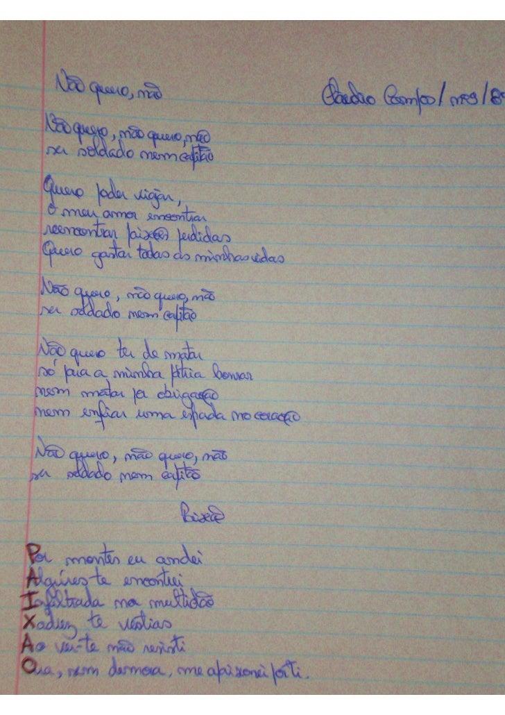 Poesia   Actividade Com Os Alunos   Profª Clara Dias